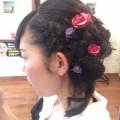 髪飾りを活かしたサイドアップ☆